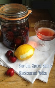 Sloe Gin, Spiced Rum and Blackcurrant Vodka | Elizabeth Herbert