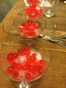 Red margarita pearls | Betty Herbert